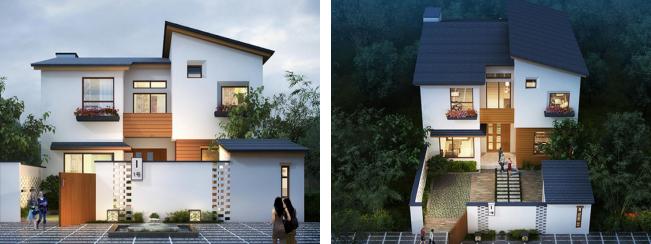 有院子的小户型别墅设计图