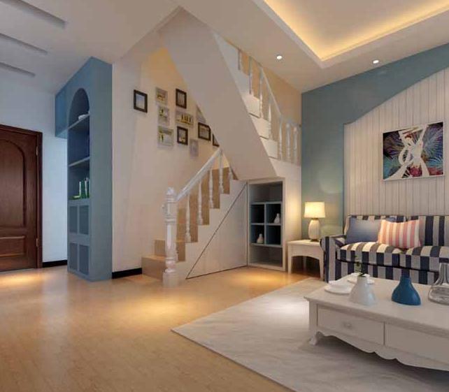 農村自建房裝修用白色與淺藍色搭配簡約現代風格,看完