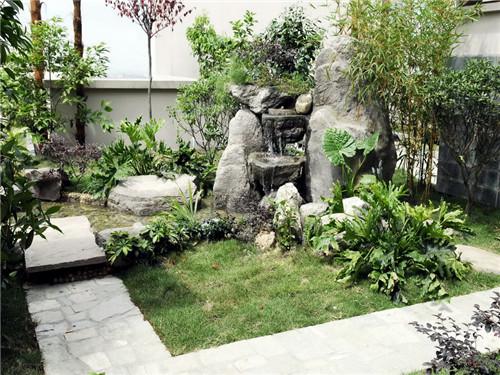 农村自建别墅花园水池怎么建造?学会这些自己也能设计图片