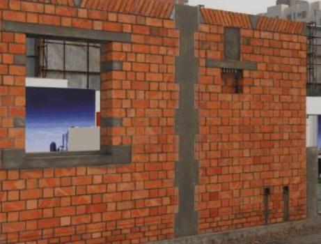多层砖混结构建筑的墙体中还应该装钢筋混凝土构造柱,与各层圈梁相